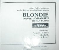 Duran duran blondie tour programme 1