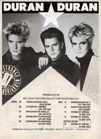 Poster tour duran duran 1987 strange behaviour