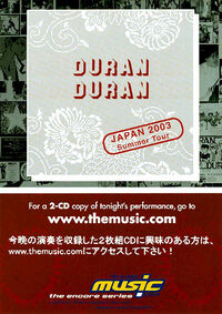 Duran duran japan tour