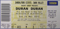 Duran Duran Tickets PERTH Sandalford Estate Sat 24th March wikipedia