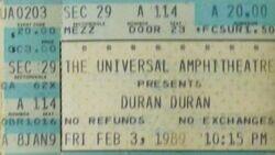 Universal Amphitheatre, Los Angeles, CA, USA a wikipedia duran duran