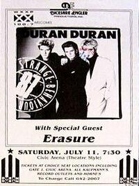 Poster duran duran 1987 x