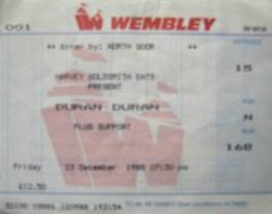 Wembley arena wikipedia ticket stub duran duran
