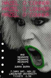 Hazel o'connor mega hype tour duran duran poster