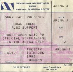 Nec arena national exhibition center wikipedia duran duran birmingham ticket stub
