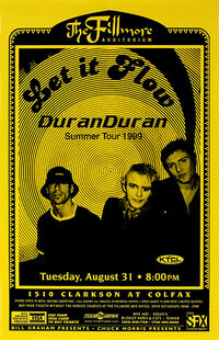 Poster duran duran Fillmore Auditorium, Denver, CO, USA.