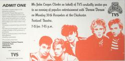 Ticket RARE Chichester Festival Theatre, Chichester (UK) duran duran wikipedia