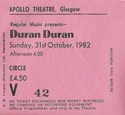 Glasgow ticket