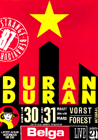 Poster duran duran belgium 1987