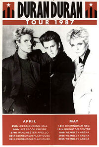 Poster duran duran uk tour 1987 x