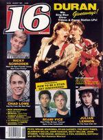 16 (USA) August 1985