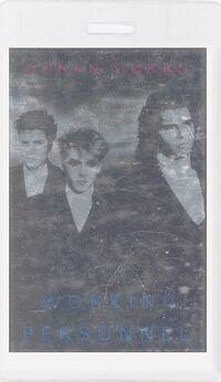 Duran duran-1987 laminate working pass