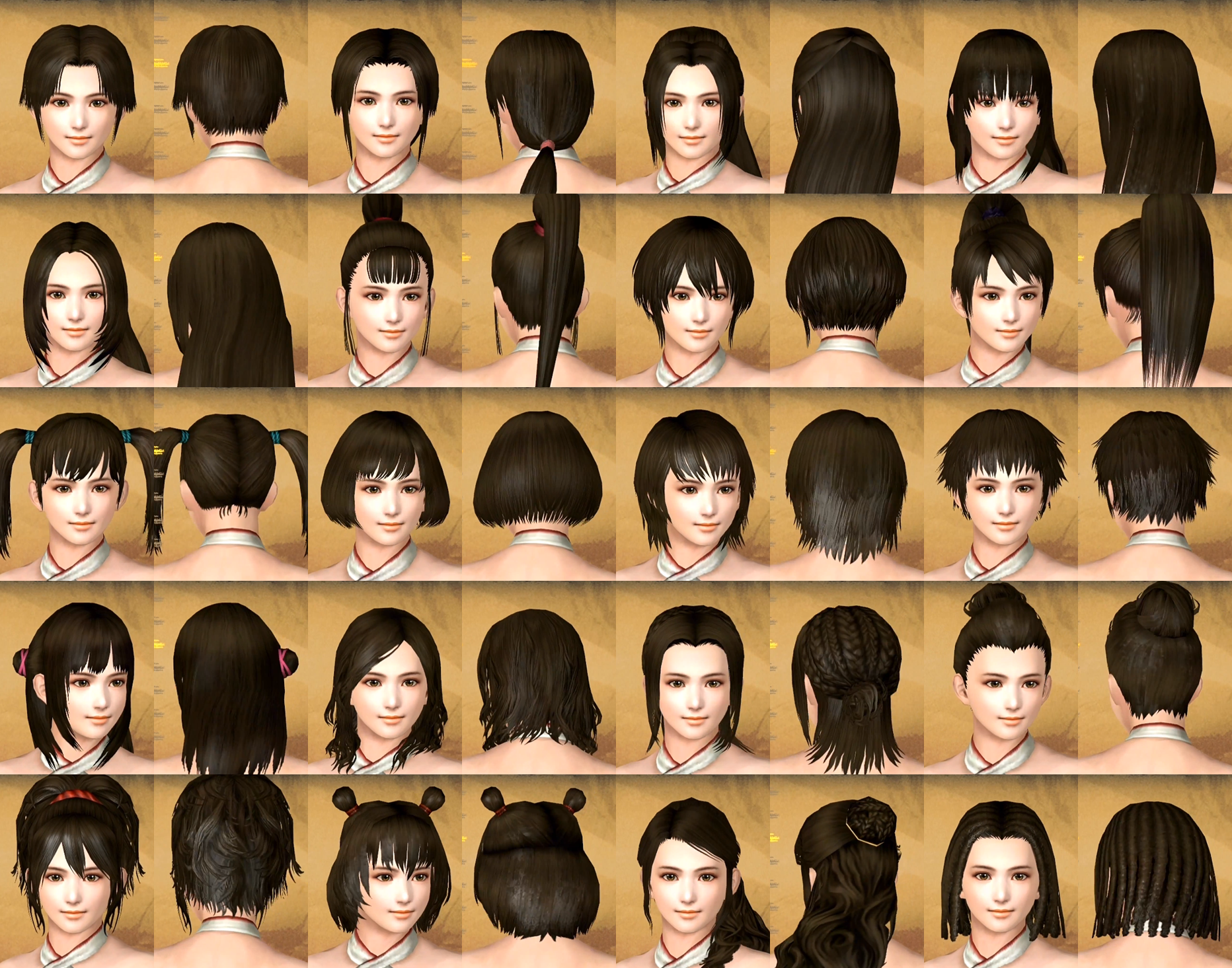 Image Female Hairstyles Tkd Png Koei Wiki Fandom Powered By Wikia