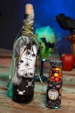 Halloween poison wine bottles party favor