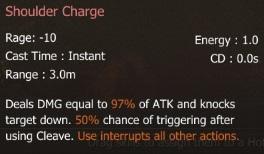 S Shoulder Charge
