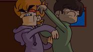 Trick or Threat - Possessed Edd & Matt fighting