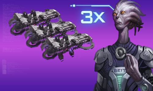 3x Vermillion Part