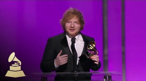 Ed Sheeran Best Pop Solo Performace 58th GRAMMYs