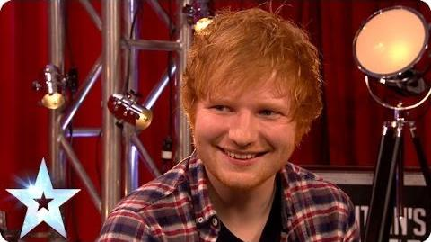Stephen has a chinwag with superstar Ed Sheeran Britain's Got Talent 2014