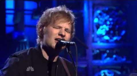Video ed sheeran don 39 t snl debut performance ed - Ed sheeran give me love live room ...