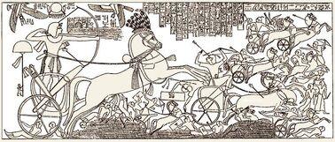 Seti I Battle Scene with the Hittites