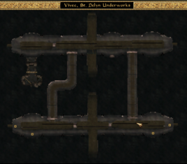 St Delyn Underworks Local Map Morrowind