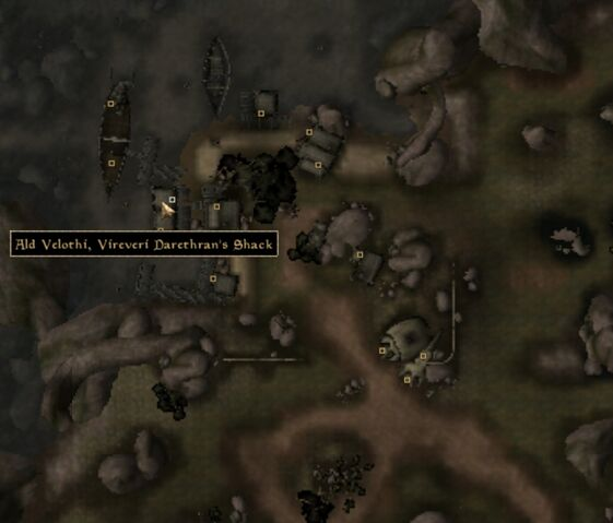 File:TES3 Morrowind - Ald Velothi - Vireveri Darethran's Shack - location map.jpg