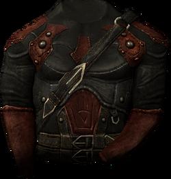 Worn shrouded armor