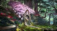 Auridon flowery trees
