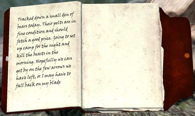 File:Bear Hunter's Journal.png
