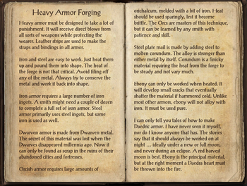 Heavy Armor Forging, as seen in The Elder Scrolls Online