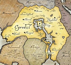 Cyrodiil Oblivion Map