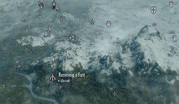 Skyrim map Rannveig's Fast