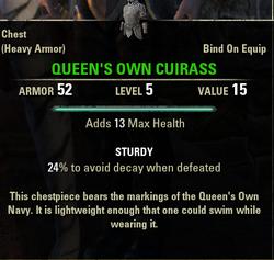 Queen's Own Cuirass