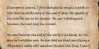Quaronaldil's Letter