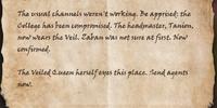 Zaban's Letter