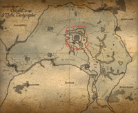 Map of cyrodiil aged Red Ring Road