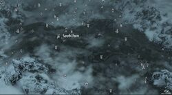 Sarethi Farm map Skyrim