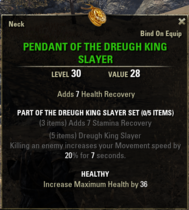 Dreugh King Slayer - Pendant 30