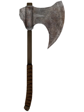File:Oblivion IronWarAxe.png