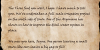Letter to Seyne