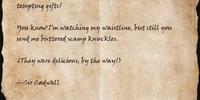 Letter to Cynhamoth
