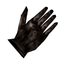 TES3 Morrowind - Glove - Black Right Glove