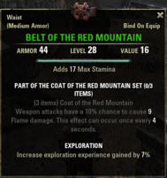 Coat of the Red Mountain - Belt 28