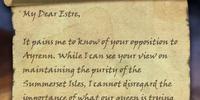 Letter to Estre
