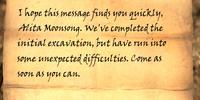 Letter from Ralis Sedarys