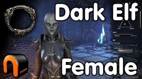 Elder Scrolls Online -- Dark Elf Female - Character Creation