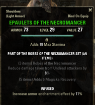 Robes of the Necromancer - Epaulets 29