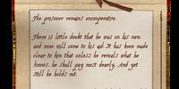 Conjurer's Note (Prisoner)