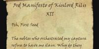 3rd Manifesto of Kinlord Rilis XII